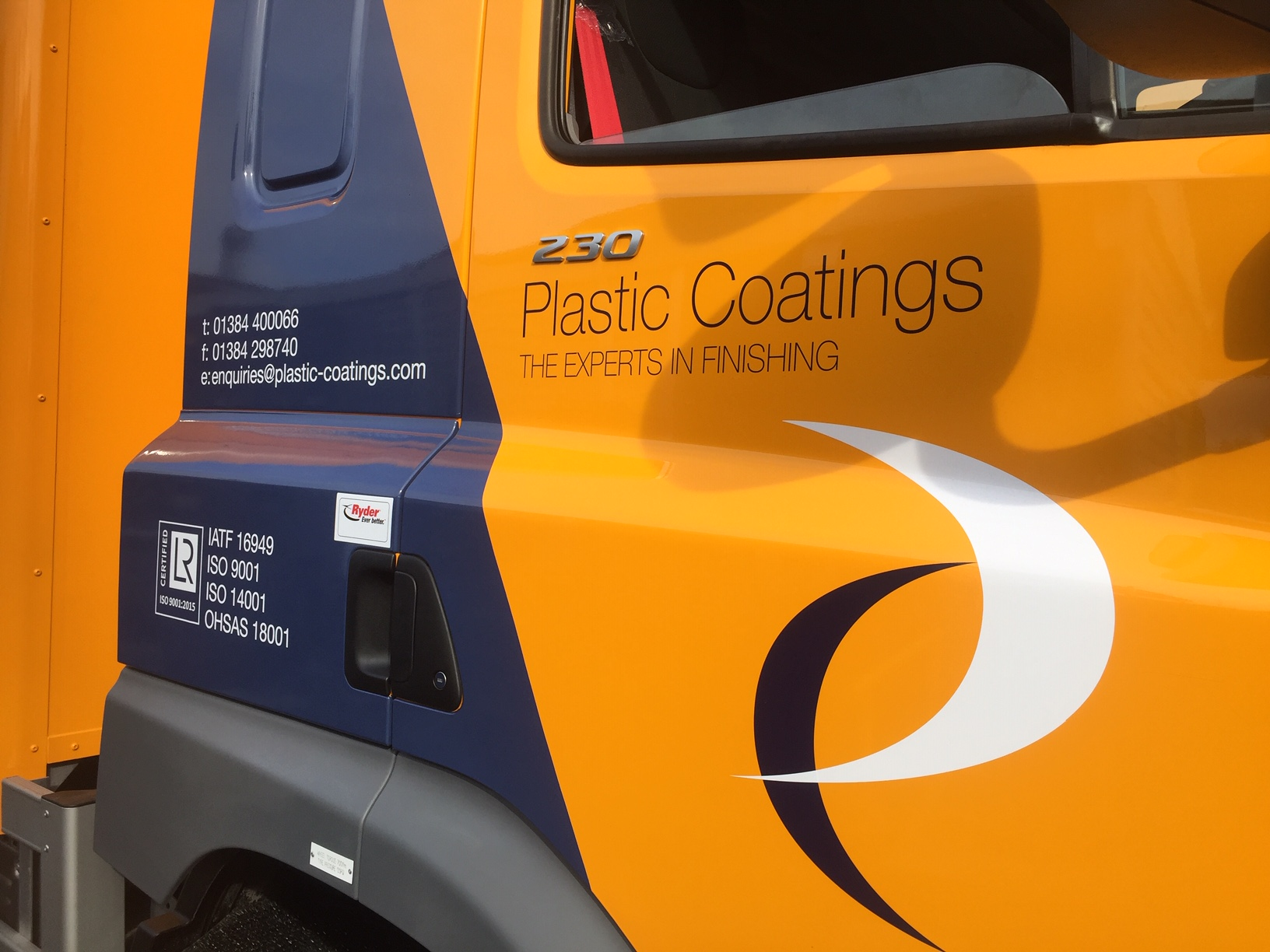 Not just Plastic Coatings... Our new fleet